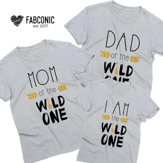 Family Birthday Shirts, Dad Mom I am the Wild One, Family Shirts