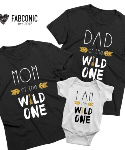 Family Birthday Shirts, Dad Mom I am the Wild One, Family Shirts