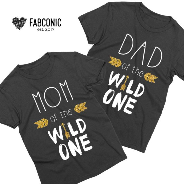 Dad Mom Family Shirts, Dad of the Wild One, Mom of the Wild One