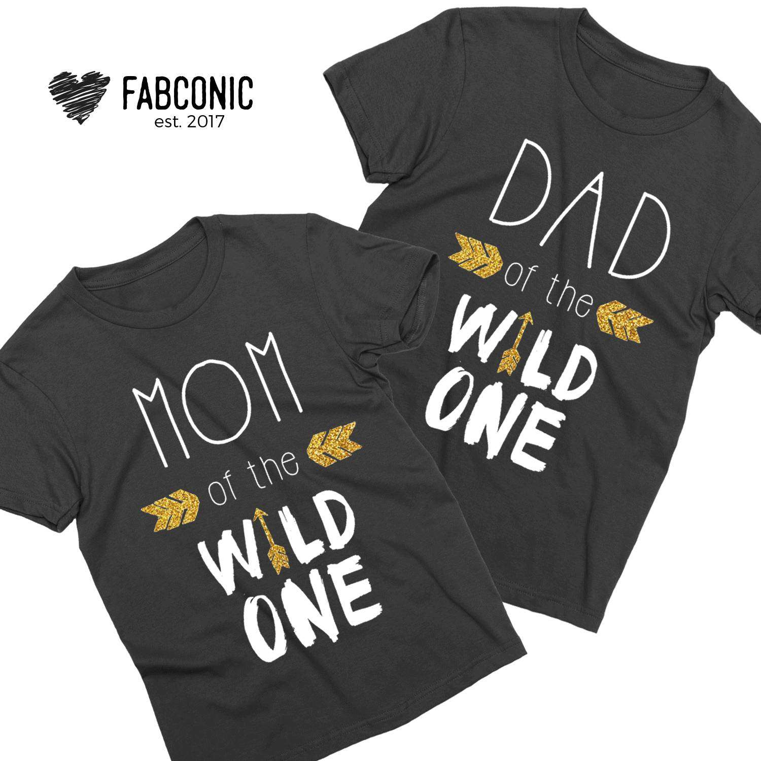 7b1f7ae1 Dad of the Wild One, Mom of the Wild One, Family Shirts - Fabconic