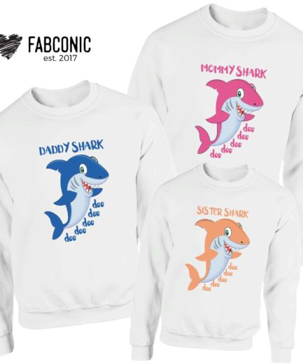 Baby Shark Sweatshirt, Family Set, Matching Shark Family Sweatshirts