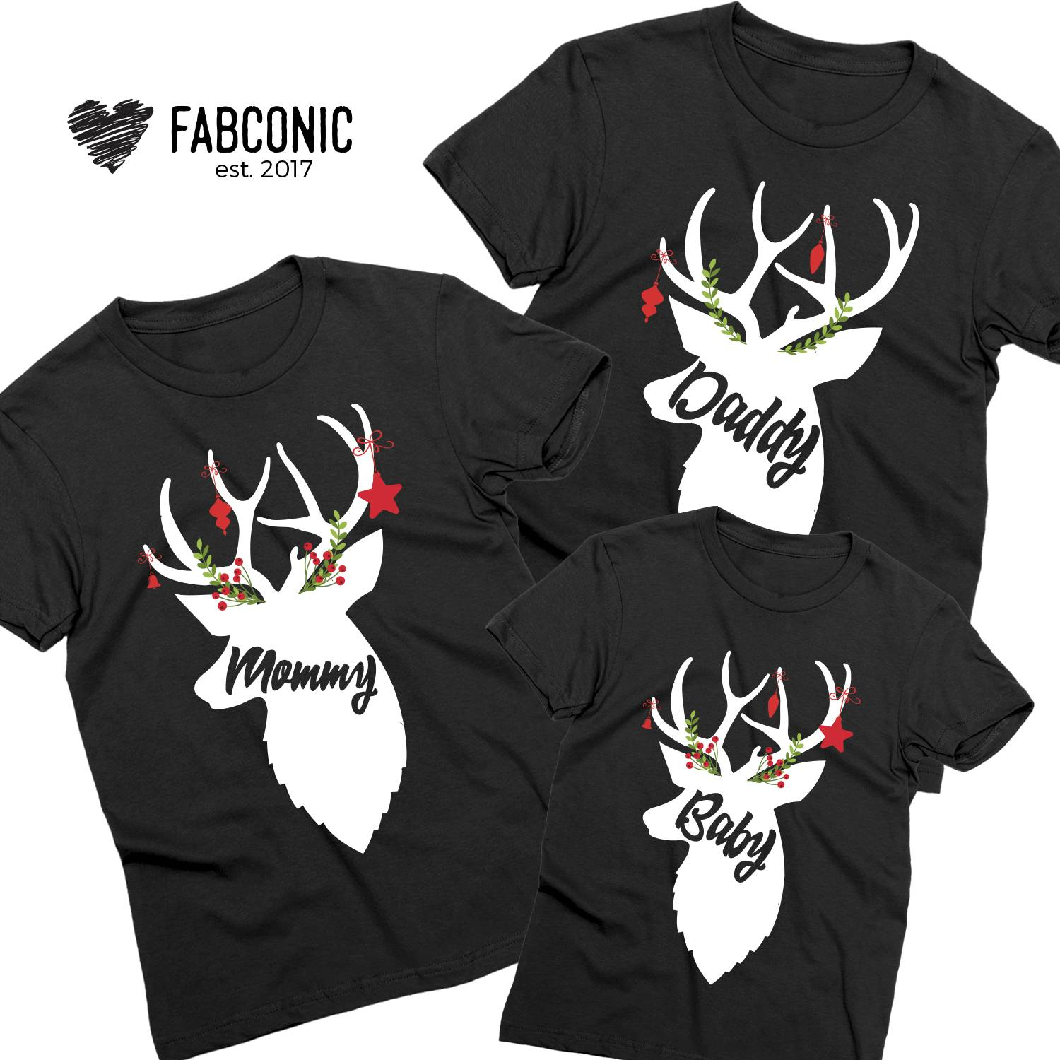 Matching Christmas Shirts For Family.Deer Christmas Family Shirts Matching Christmas Shirts For