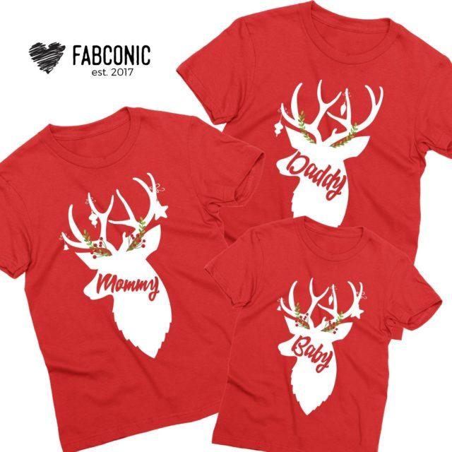 Deer Christmas Family Shirts, Matching Christmas Shirts for Family