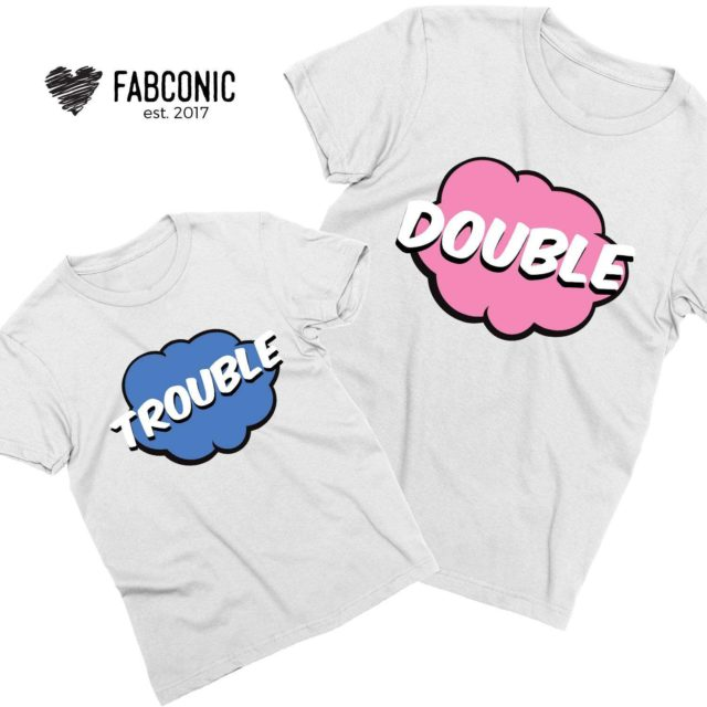 Double Trouble Family Shirts, Matching Family Shirts, Father Son Shirts