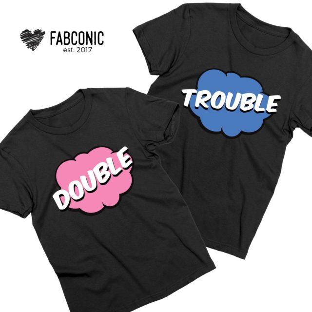 Double Trouble Shirts, Comic Style, Couple Matching Shirts