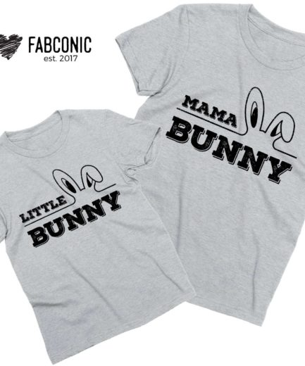 Mama Bunny Little Bunny Easter Shirts, Easter Mother & Kid Shirts