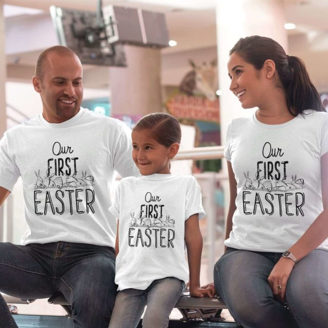 Our First Easter Shirts, Easter Family Shirts, Matching Family