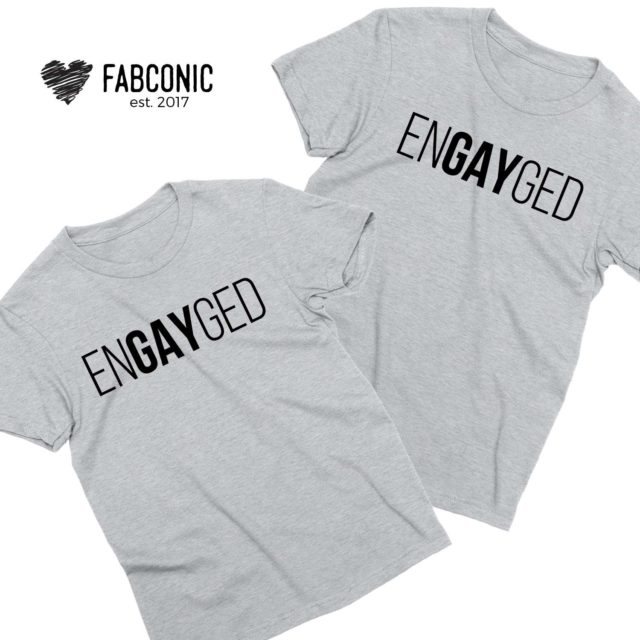 EnGAYged Shirts, Couple Shirts, Matching LGBT Shirts