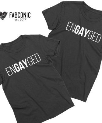 EnGAYged Shirts, Couple Shirts, Matching LGBT Shirts
