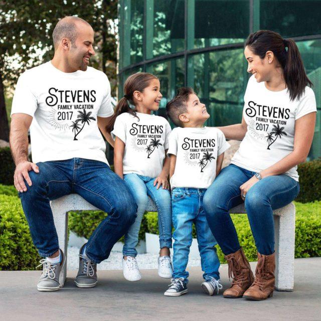 Custom Family Vacation, Family Vacation Shirts, Custom Family Name