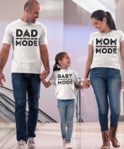 Dad Mom Kid Mode Shirts, Matching Family Shirts, Family Gifts