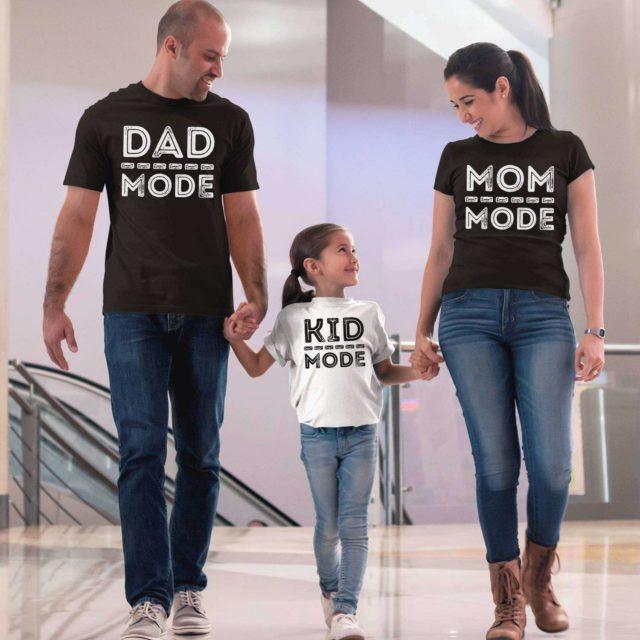 Dad Mom Kid Mode Shirts, Matching Family Shirts, Family Gifts