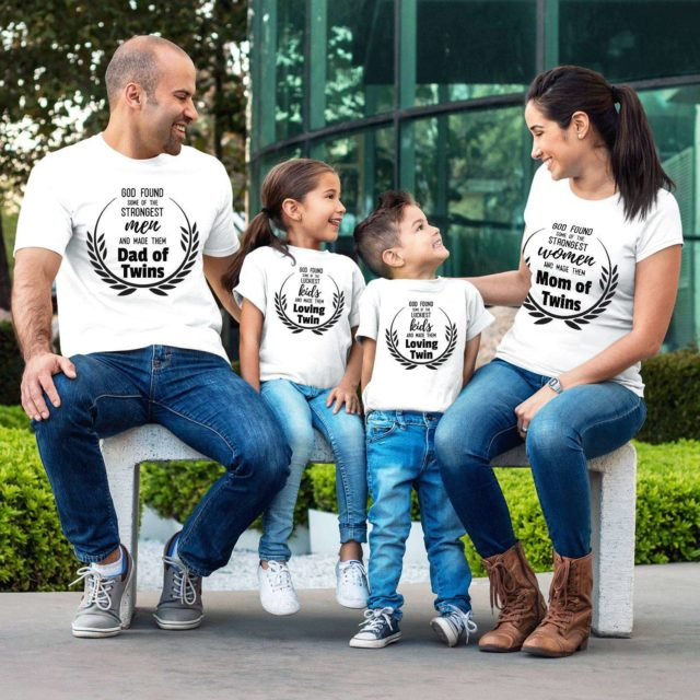 Twins Family Shirts, Mom of Twins, Dad of Twins, Loving Twin, Family Shirts