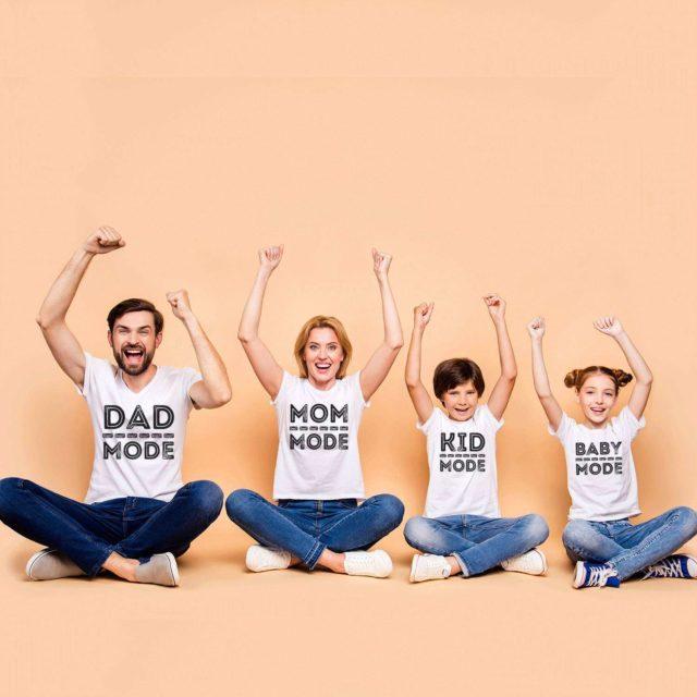 Dad Mode Mom Mode Baby Mode, Matching Family Shirts