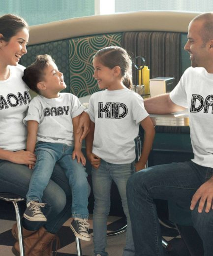 Mom Dad Baby Shirts, Matching Family Shirts, Funny Gift for Family