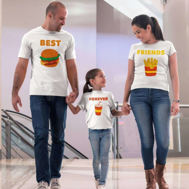 Best Friends Forever Family Shirts, Burger, Fries, Coke, Family Shirts