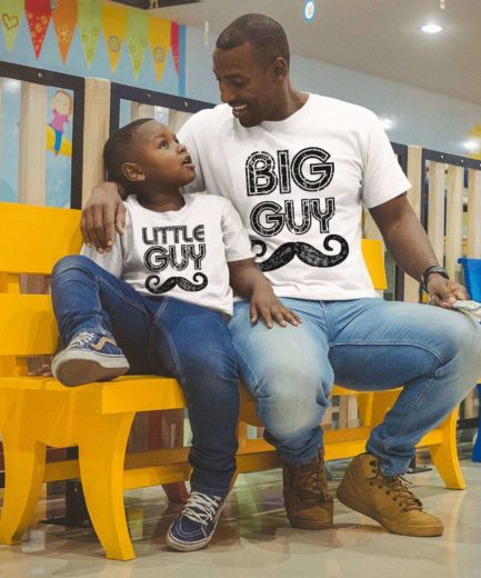 Big Guy Little Guy Shirts, Father & Kid Shirts, Family Shirts