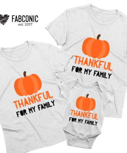 Thanksgiving Family Shirts, Thankful for My Family, Family Shirts