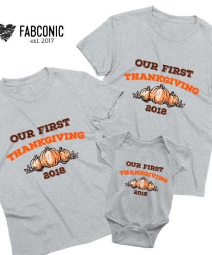 Our First Thanksgiving Shirts, Family Shirts, Thanksgiving Shirts