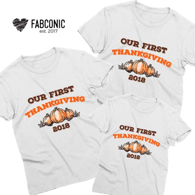 Our First Thanksgiving Shirts, Family Shirts, Thanksgiving Shirts