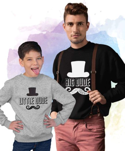 Big Dude Little Dude Sweatshirts, Family Sweatshirts, Father's Day Gift Ideas