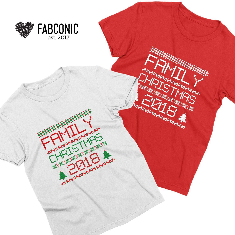 Family Christmas Shirts.Family Christmas 2018 Couple Shirts