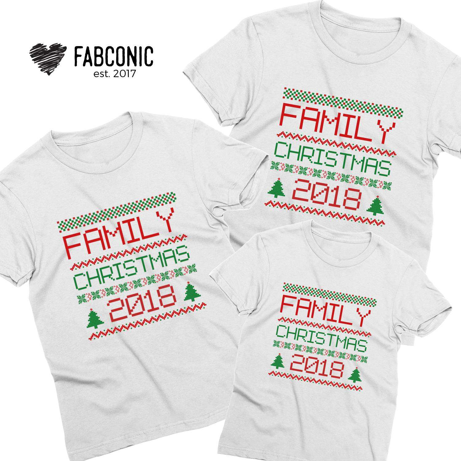 Matching Christmas Shirts For Family.Family Christmas 2018 Family Shirts