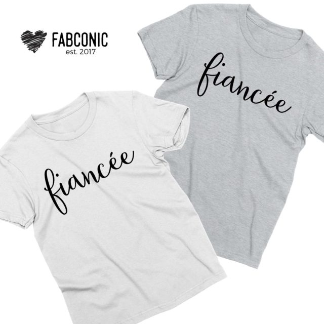 Engagement LGBT Shirts, Fiancee and Fiancee, Couple Shirts
