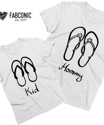 Mom Kid Vacation Shirts, Flip Flops, Mommy and Kid, Mommy and Me