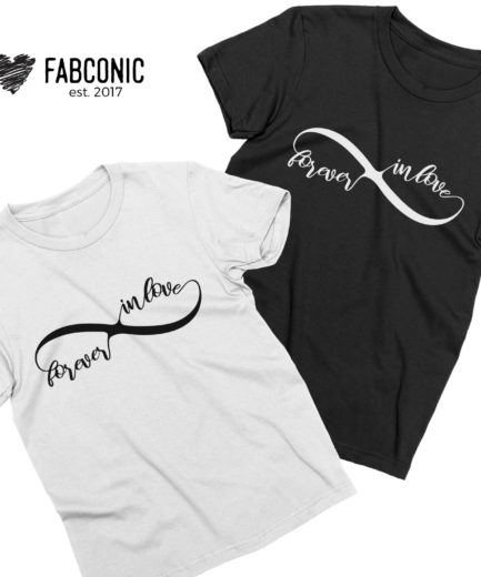 Forever Inlove Shirts, Infinity Shirts, Matching Couple Shirts