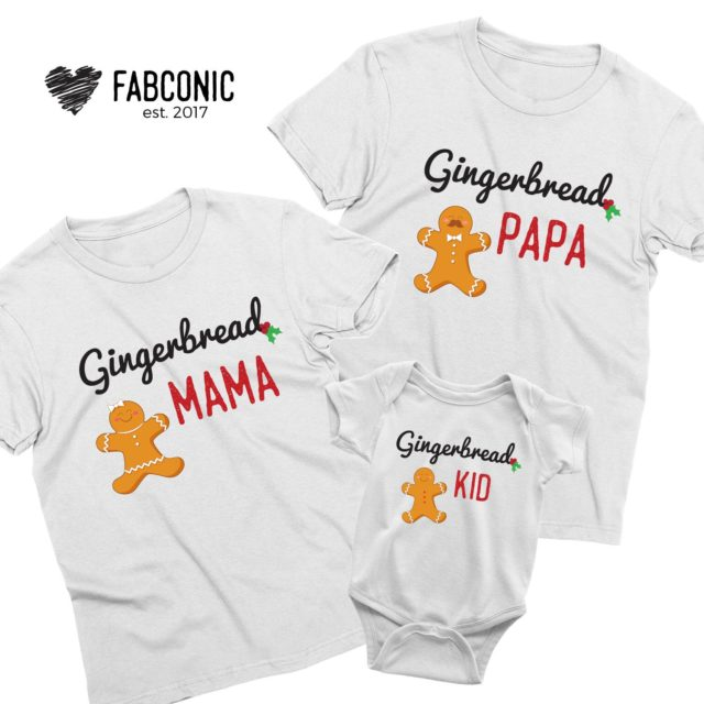 Gingerbread Christmas Family Shirts, Family Christmas Gifts