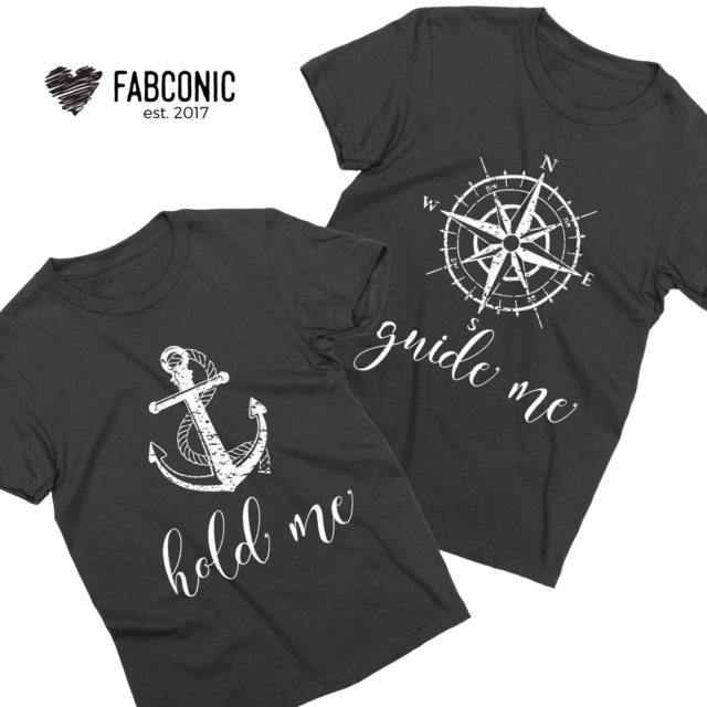 Guide Me Hold Me Shirts, Couple Shirts, Gift for couple