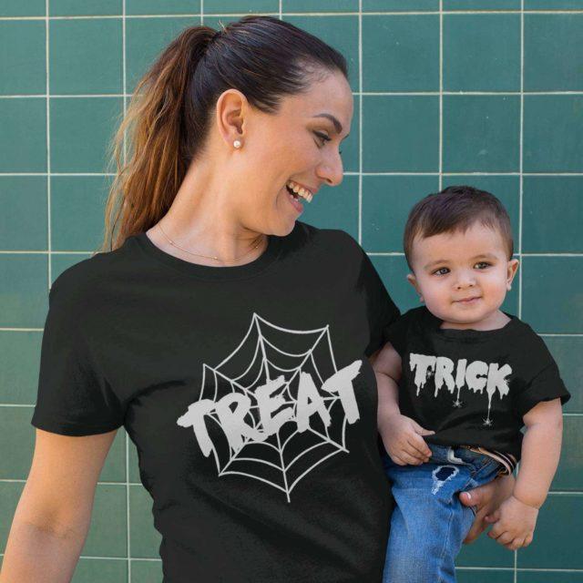 Matching Family Halloween Shirts, Trick, Treat, Funny Halloween Family Shirts