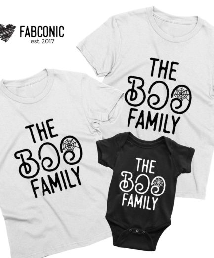 The Boo Family Halloween Shirts, Matching Family Shirts, Funny Halloween Shirts