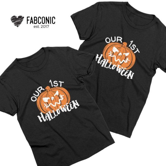 Our First Halloween Shirts, Pumpkin Shirts, Family Shirts