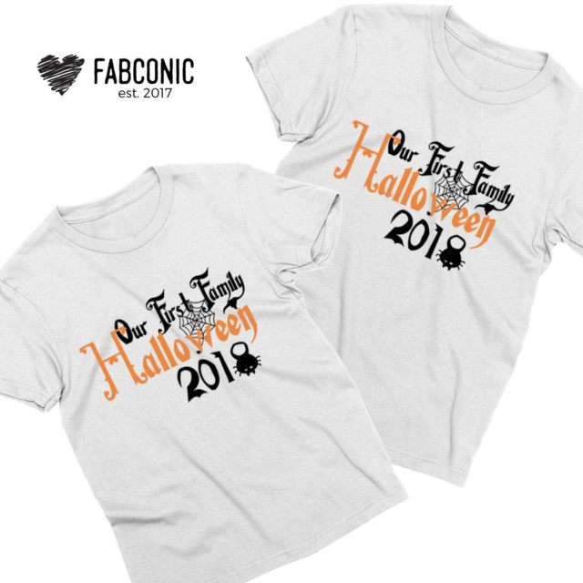 Our First Halloween Coules Shirts, Matching Family Shirts