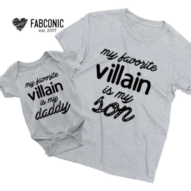 Father Son Halloween Shirts, My Favorite Villain is My Daddy My Son