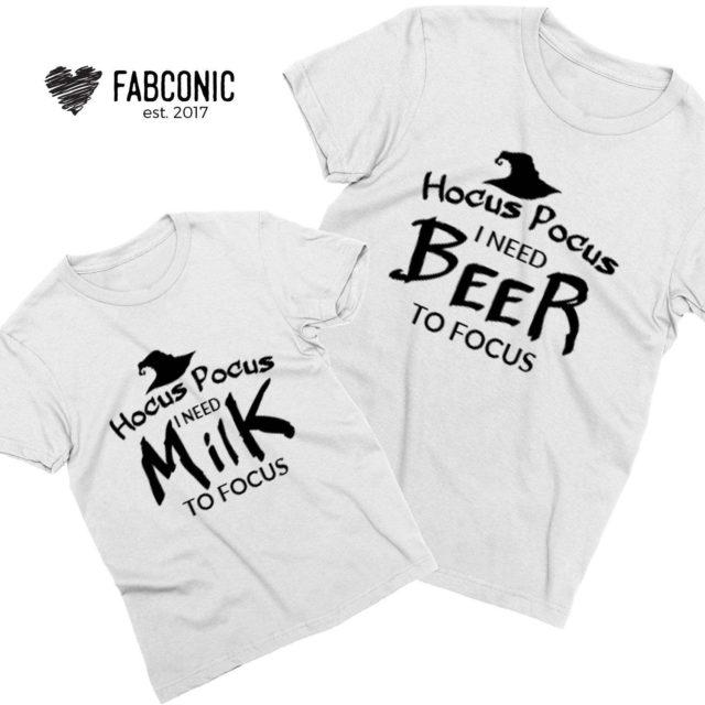 Hocus Pocus Shirts,Hocus Pocus I need Beer I need Milk, Family Shirts