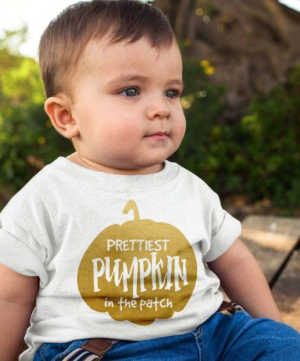 Halloween Kids Shirts, Prettiest Pumpkin in the Patch, Halloween Family Shirts