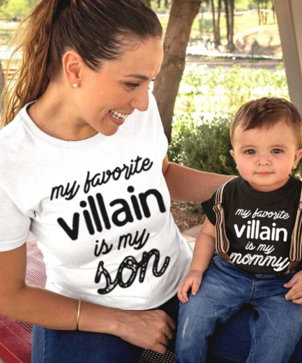 Mother Son Halloween Shirts, My Favorite Villain is My Mommy My Son