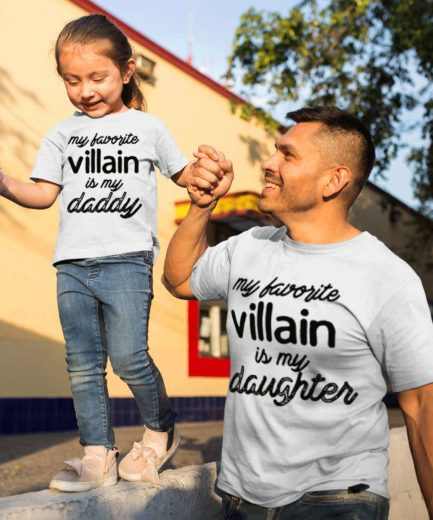 Father Daughter Halloween Shirts, My Favorite Villain is My Daddy My Daughter