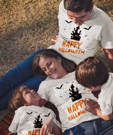 Happy Halloween Shirts, Haunted Castle, Halloween Family Shirts