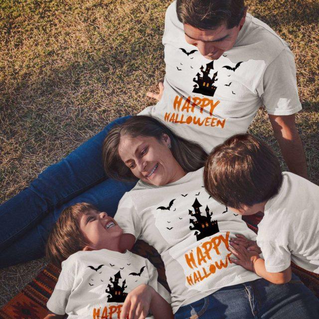 Happy Halloween Shirts, Haunted Castle, Halloween Family Shirts