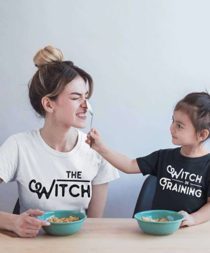 Halloween Mother Daughter Shirts, The Witch, Witch in Training