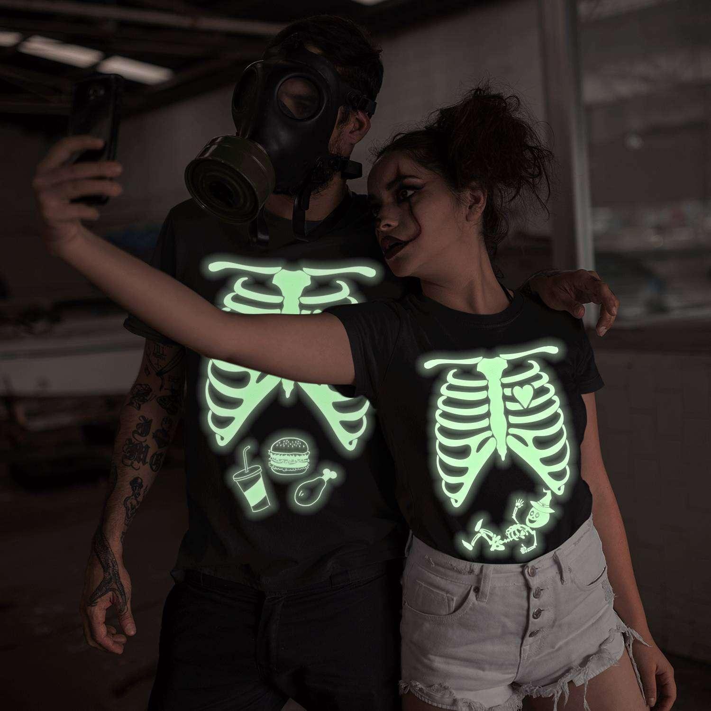 Halloween Couples Costume Skeleton Costume Shirt Matching Shirts Funny Halloween