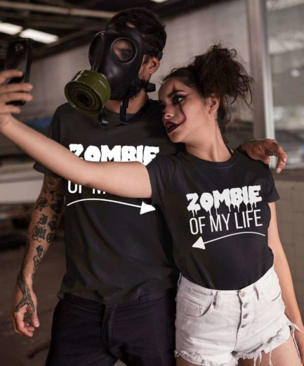 Halloween Zombie Shirts, Zombie of My Life, Funny Couple Shirts