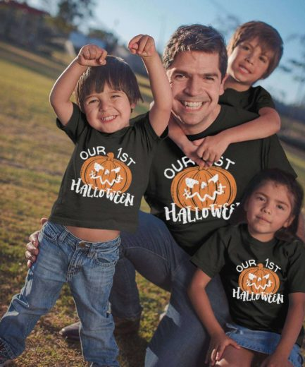 Our First Halloween Shirts, Pumpkin Shirts, Family Shirts