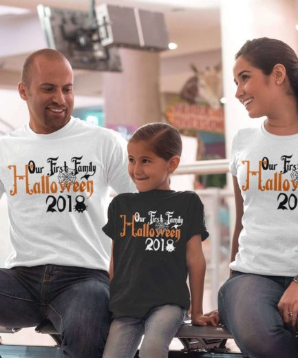 Our First Halloween, Family Shirts, Halloween Outfit for Family