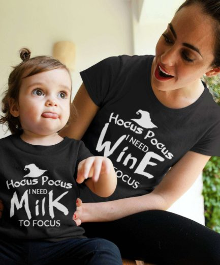 Hocus Pocus Family Shirts, I need Milk, I need Wine, Family Shirts