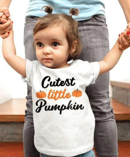 Cutest Little Pumpkin Shirt, Halloween Kids Shirts, Halloween Shirt for Boys Girls
